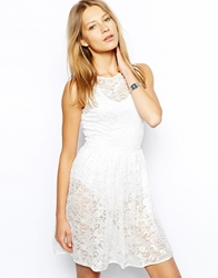 American Apparel Sleeveless Lace Skater Dress