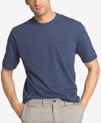 Izod Solid Double Layer Jersey Pocket T Shirt Blue Revival