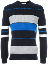 Givenchy Contrast Stripe Sweater Blue