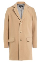 A.P.C. Wool Cotton Coat Camel