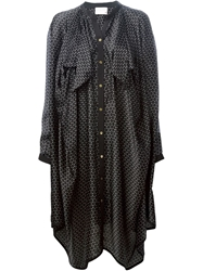Maison Rabih Kayrouz Printed Loose Fit Shirt Dress Black