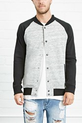 Forever 21 Heathered Varsity Jacket