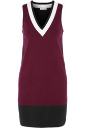 Rag And Bone Rag And Bone Ainsley Stretch Cotton Blend Mini Dress Burgundy