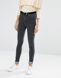 Vero Moda High Waisted Skinny Jean Dark Grey Denim
