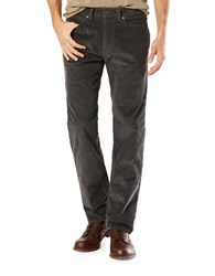 Dockers Five Pocket Straight Fit Corduroy Pants Grey
