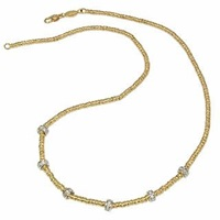 Torrini Rondelle Moving Mini 18K Yellow Gold And Diamond Necklace