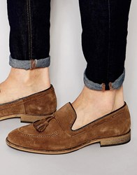 Selected Homme Ley Suede Tassel Loafers Beige
