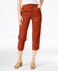 Styleandco. Style Co. Mid Rise Cropped Pants Only At Macy's Sienna Orange