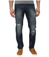Dkny Williamsburg Jeans Jupiter Rip And Repair Wash In Indigo Indigo Men's Jeans Blue