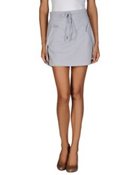 Galliano Mini Skirts Grey