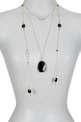 Charlene K 14K Gold Vermeil Black Onyx Accented Necklace Set