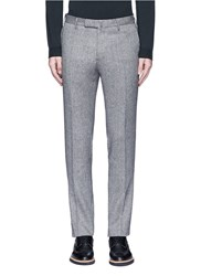 Incotex Slim Fit Wool Hopsack Pants Grey