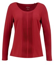 S.Oliver Long Sleeved Top Glory Red Dark Red