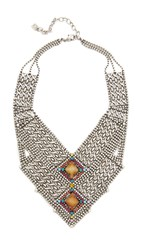 Dannijo Rey Necklace Multi Ox Silver