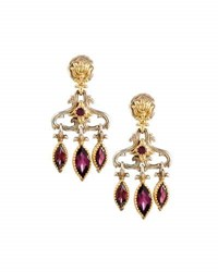 Konstantino Artemis Rhodolite Dangle Earrings Red