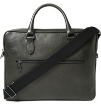 Mulberry Heathcliffe Grained Leather Briefcase Army Green