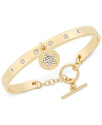 Bcbgeneration Crystal Charm Toggle Bracelet Gold Heart