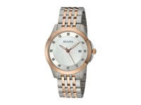 Bulova Diamonds 98P162 Stainless Steel Rose Gold Mother Of Pearl Watches