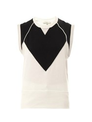 Iro Zarya Sleeveless Sweatshirt Black White