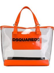 Dsquared2 'Mykonos' Shopping Tote Yellow And Orange