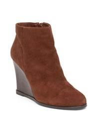 Vince Camuto Gemina Leather Wedge Ankle Boots Cocoa
