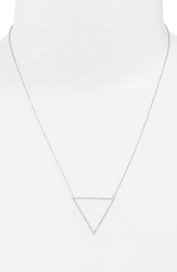 Bony Levy 'Prism' Diamond Triangle Pendant Necklace Nordstrom Exclusive White Gold
