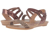 Blowfish Bamb Tan Spotted Bronze Greasy Whiskey Dyecut Pu Women's Sandals Animal Print