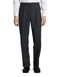Lauren Ralph Lauren Straight Leg Wool Blend Pants Charcoal