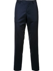 Maison Kitsune Straight Leg Trousers Blue