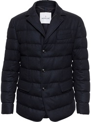 Moncler Flannel Wool Puffa Jacket Black