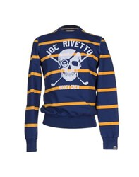 Joe Rivetto Topwear Sweatshirts Men Dark Blue