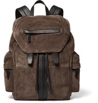 Alexander Wang Marti Leather Trimmed Suede Backpack Brown