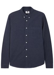 Nn.07 Falk Navy Cotton Shirt