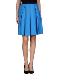 Space Style Concept Knee Length Skirts Azure