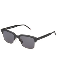 Thom Browne Eyewear Thom Browne Tb 709 Sunglasses Matte Black And Dark Grey