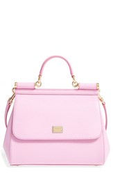 Dolce And Gabbana 'Small Miss Sicily' Leather Satchel Pink Rosa Chiaro