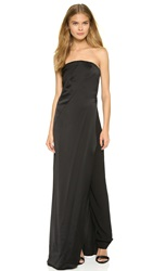Donna Karan Strapless Gown With Trousers Black