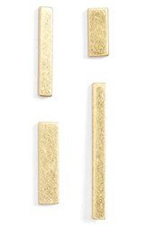 Madewell Women's Boxed Set Of Four Stick Stud Earrings