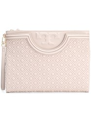 Tory Burch 'Fleming' Clutch Bag Nude And Neutrals