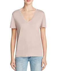Halston Heritage Solid V Neck Tee Compare At 95 Mauve