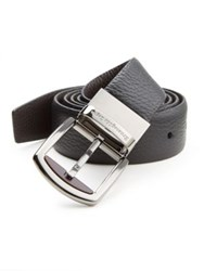 Ermenegildo Zegna Pebbled Leather Belt Black