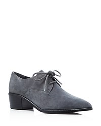 Marc Fisher Ltd. Etta Suede Pointed Toe Oxfords Dark Gray