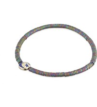 Luis Morais Enamel Crescent Moon Bracelet Purple Gold