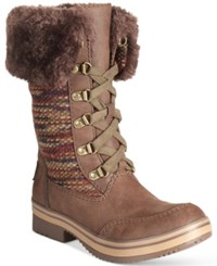 Rocket Dog Suri Lace Up Cold Weather Boots Women's Shoes Tribal Brown