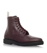 Common Projects Crepe Combat Boots Male Wine