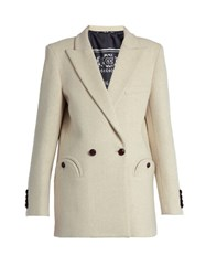 Blaze Milano Everyday Woodland Wool Blazer Cream
