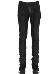 11 By Boris Bidjan Saberi Destroyed Coated Stretch Denim Jeans