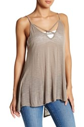 Candc California Poppy Trapeze Tank Gray