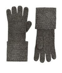 William Sharp Crystal Cuff Cashmere Gloves Dark Grey