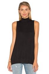 Heather Wrap Back Panel Tank Black